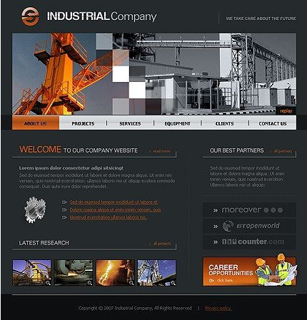 Example of an Industrial company template