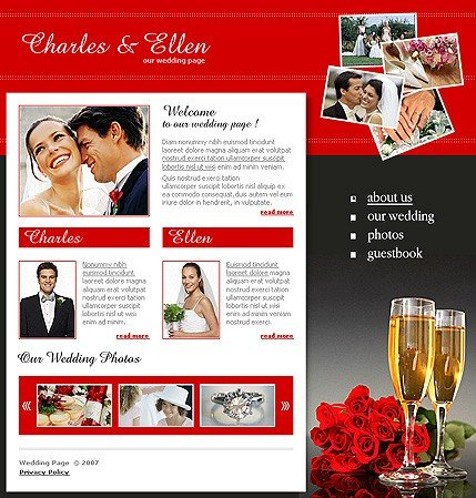 Example of a Wedding template